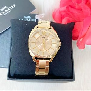 NEW Coach Ladies Watch Gold Stainless Steel
